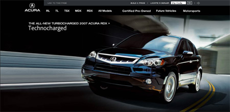 April 16, 2007: What's Hot in Automotive Sites Today on lexus website, nissan website, porsche website, john deere website, land rover website, volkswagen website, infiniti website, honda website, aston martin website,